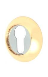 Накладка цилиндровая круглая (золото/хром)