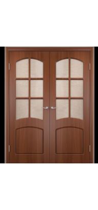 Межкомнатная ламинированная двустворчатая дверь Кэрол