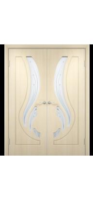 Межкомнатная ламинированная двустворчатая дверь Лиана