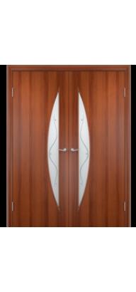 Межкомнатная ламинированная двустворчатая дверь С-06