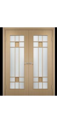 Межкомнатная ламинированная двустворчатая дверь С-15